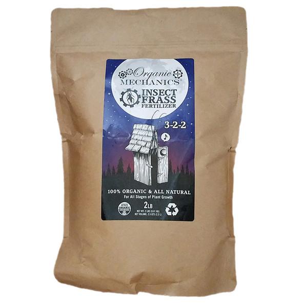 Organic Mechanics Insect Frass Fertilizer- 2lb Bag