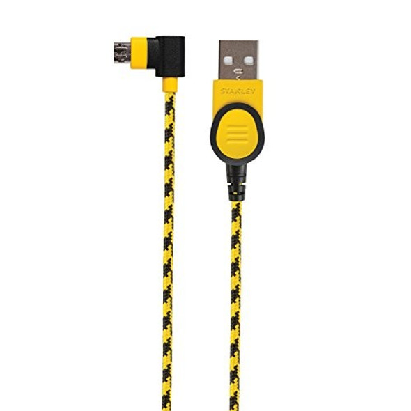 STANLEY 90-Degree Right Angle Cable Micro-USB Devices, 4 Feet