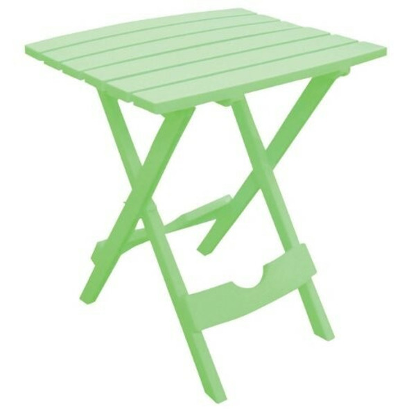 Adams Manufacturing (#8510-08-3734) Quik-fold Portable Side Table, Summer Green