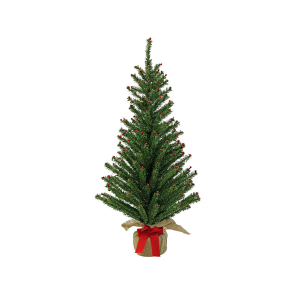 Good Tidings Green Norway fir PVC 36-inch Tree w/ Berries