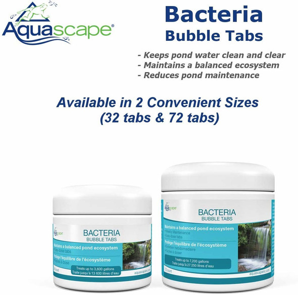 Aquascape AQS98930 Beneficial Bacteria Bubble Tabs for Pond/Water Features
