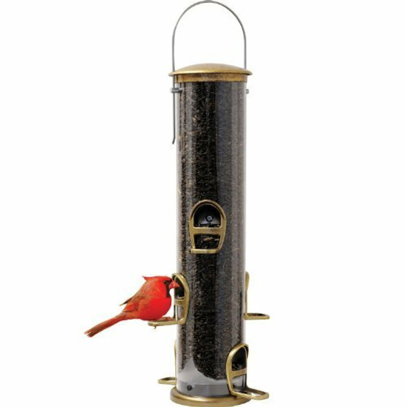 Aspects (#ASP420) Antique Brass Quick Clean Big Tube Feeder, Large