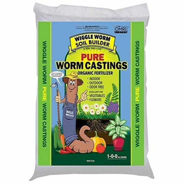 Wiggle Worm WWSB30LB Unco Industries Builder Worm Castings Soil, 30-Pound