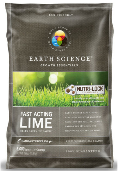 Earth Science Fast Acting Lime 5000 Sq Ft, 25 Lb