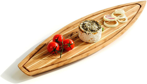 """XXD's (#Y0350) Bamboo Skerry Cruiser Cutting Board, nearly 23.5"""" long"""