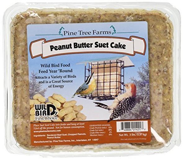 Pine Tree Peanut Butter Suet Cake, 3 Pound