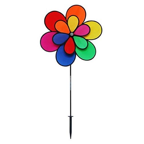 "Gardener's Select (GSA19) 12 Petal Pin Wheel, 18 by 28"", Multicolor"