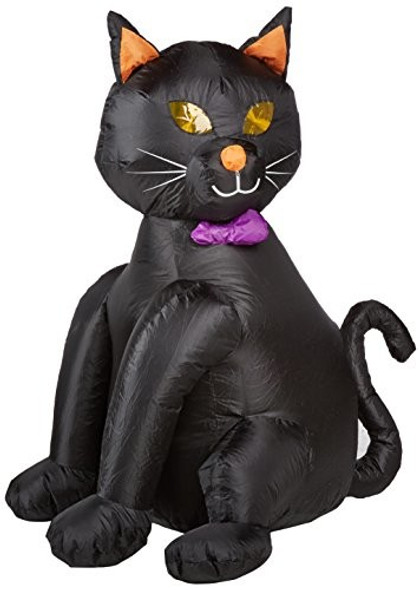"""CITI TALENT Halloween Lawn Decoration Inflatable Lighted Black Cat, 48"""""""