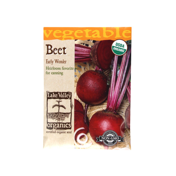 Beet Organic Early Wonder Seeds