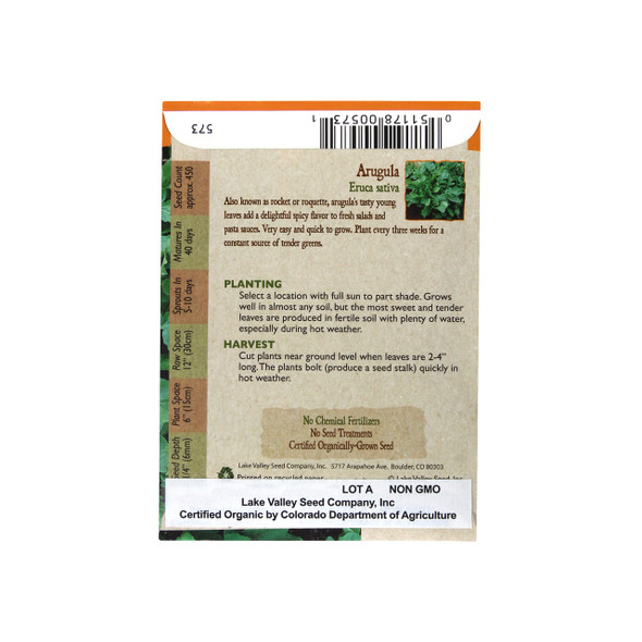 Organic Arugula Heirloom