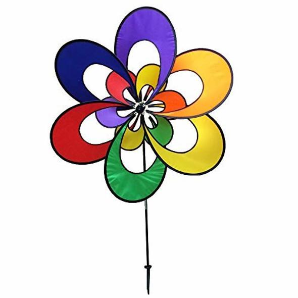 Gardener Select GSAHF209 Large Open Pinwheel, Multi-Colored 18in x 39in