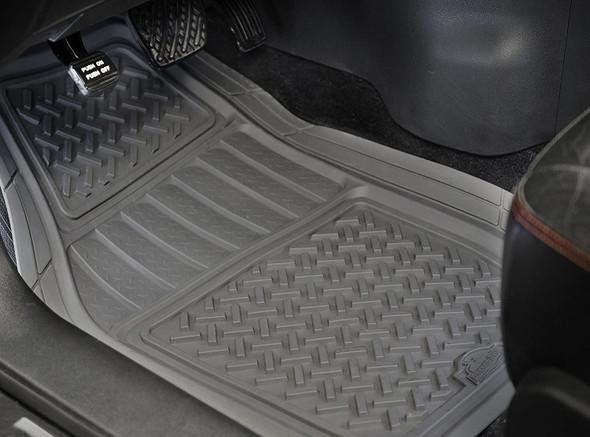 Armor All Custom Access 78831 2-Piece Grey All Season Truck/SUV Rubber Floor Mat