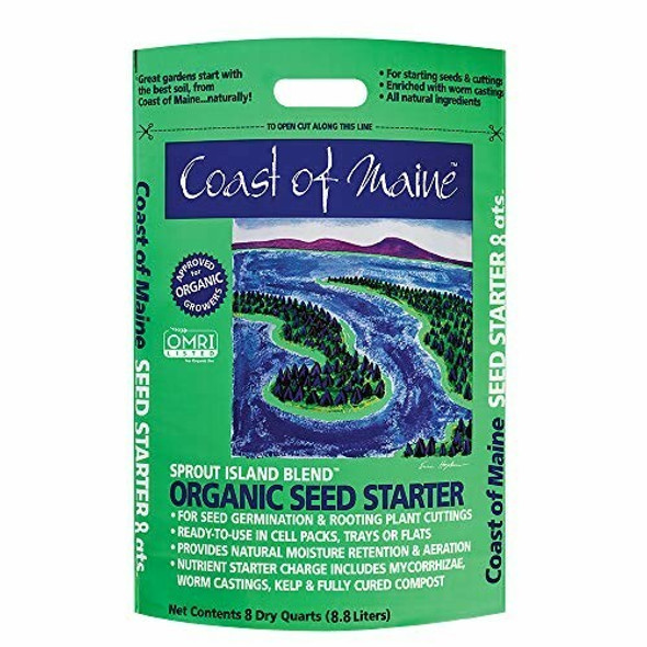Coast of Maine Sprout Island, Organic Seed Starter, 8 qt