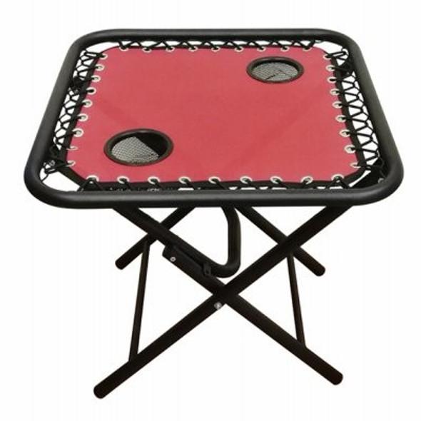 Four Seasons Courtyard RXTV-1825-XL-R Gravity Chair Folding Side Table, XL Red