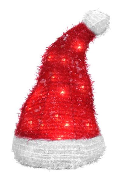 "Good Tidings Holiday Red Santa Hat Christmas Tree Topper, 12"""