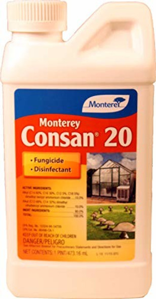 Monterey LG3234 Consan 20 Fungicide & Disinfectant, 1 pint concentrate