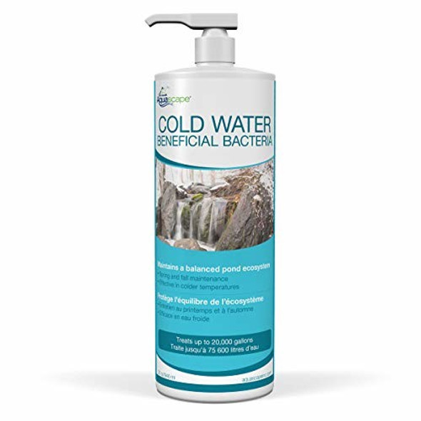 Aquascape 98894 Cold Water Beneficial Bacteria for Pond and Water Features, 32oz
