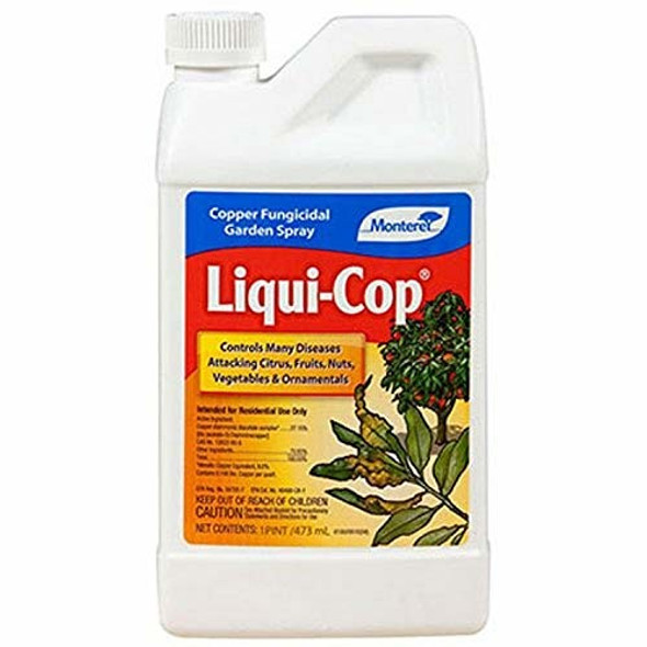 Monterey LG3100 Liqui-Cop All Natural Fungicide For Disease Prevention - Pint