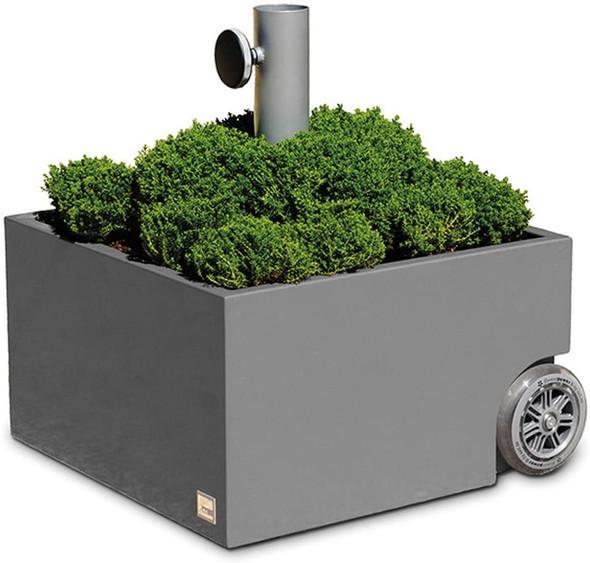 XXD's (#O-811) Zinc Plated Dark Grey Powercoated Planter & Umbrella Stand