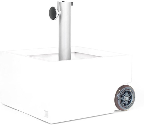 XXD's (#O-810) Zinc Plated White Powercoated Planter & Umbrella Stand