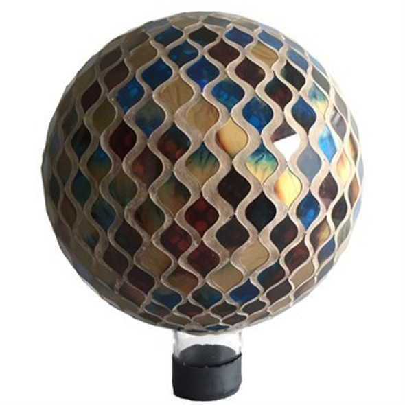 Very Cool Stuff GLMCBG102 Glass Gazing Globe, Brown Grout 10 in