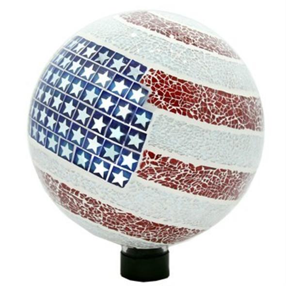 Very Cool Stuff (#GLMUSA102) Mosaic Globe Stars and Stripes, 10 inch