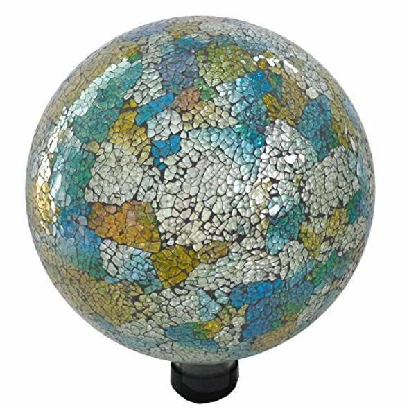 "Gardener Select 16BFG06 Mosaic Blue Yellow Globe, 10"""
