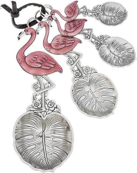 Ganz (#ER54247) Flamingo Palm Leaf Measuring Spoons Set (4 pieces)
