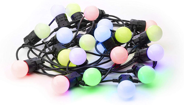 Twinkly TWF020STP-BUS App Controlled Festoon Light with 20 Multicolor RGB LED Lights
