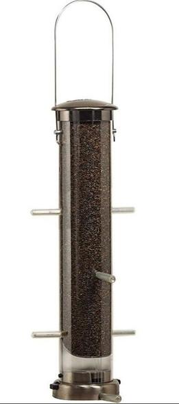 Aspects (ASP398) Nyjer Tube Feeder, Large, Brushed Nickel