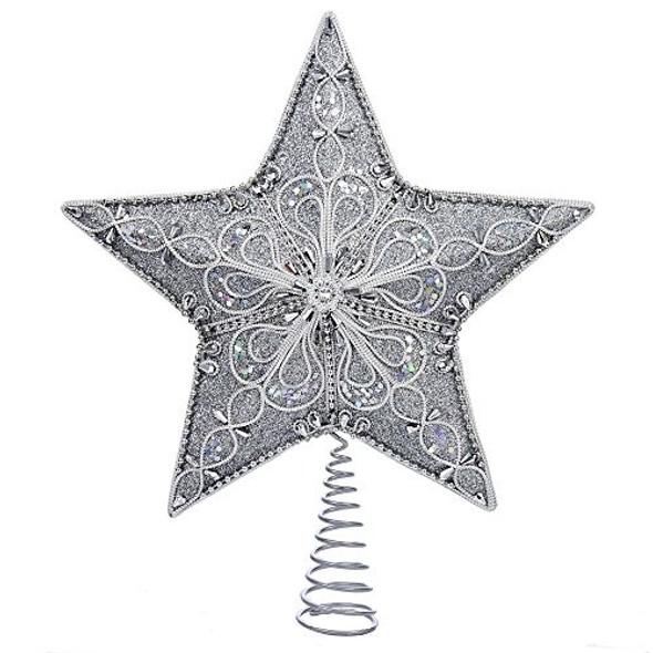 "Kurt Adler (S4341) Star Treetop, Silver, 13.5"""