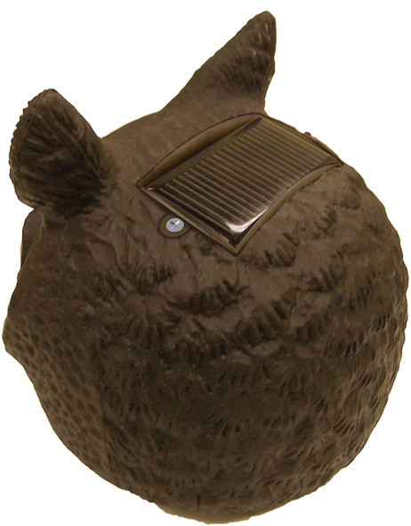 Gardeneer by Dalen 100055888 Solar Action Owl Natural Scarecrow Device, 18in