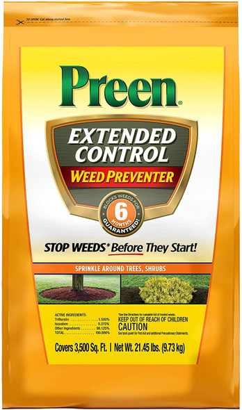 Preen (24-64231) Extended Control Weed Prevent, 21.45 lb bag covers 3,500 sq ft