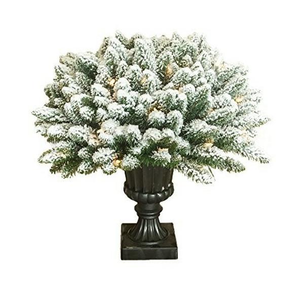 """Garden Elements (#C16 16038L) Flocked Porch Nest in Urn, 24""""H x 24""""D"""