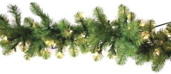 Garden Elements (#X12 9631493314) Nottingham Pine Pre-lit Garland, 9'