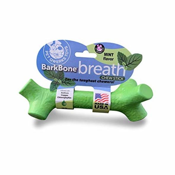 Pet Qwerks (#BBS4) BarkBone Breath Stick For Aggressive Chewers, XL Mint flavor