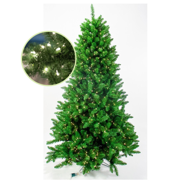 Garden Elements Penn Spruce Christmas Tree, 4.5 Height, 400 Multi-Colored Lights
