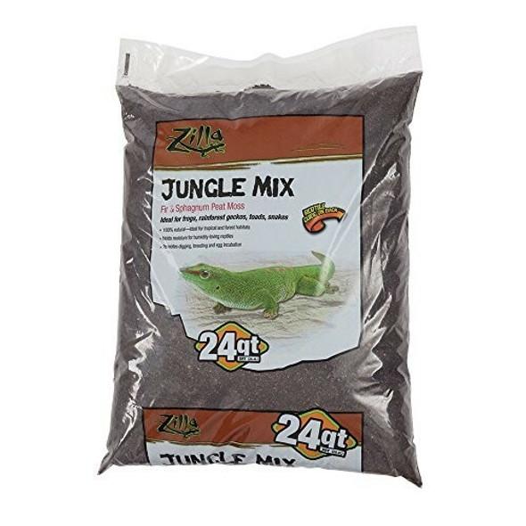Zilla (#100111305) Jungle Mix Reptile Bedding, Sphagnum moss/Fir shavings, 24qt