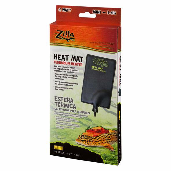 "Zilla (#100109936) Heat Mat Terrarium Heater, 4"" x 7"", black"