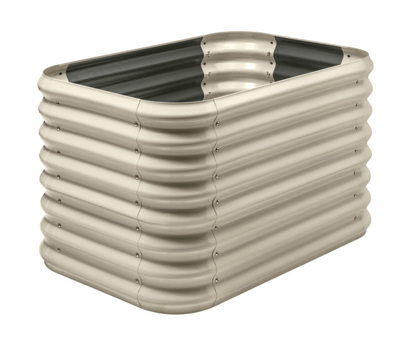 Stratco Beige Double Height Corrugated 14 CU FT Capacity Raised Garden Bed