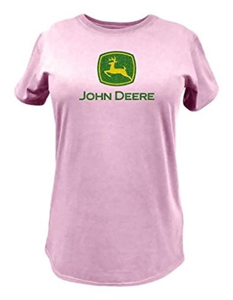John Deere (#23000024PK03) Women's Pink Logo T-Shirt, Small
