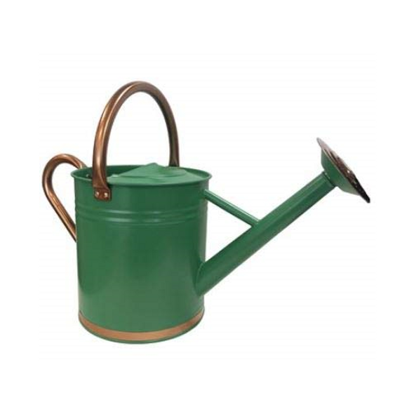 Gardener Select Metal Watering Can, Green w/ Copper - 3.5L (0.92 gallons)