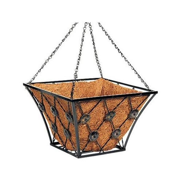 "Panacea (#88961TV) Regency Basket w/ Coco liner, Square 14LW"" x 8H"", Pack of 1"