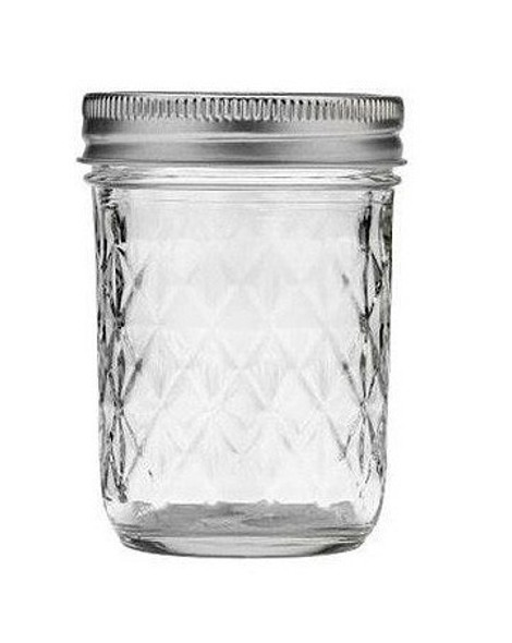 BALL (#1440081200) Quilted Jelly Jars, 8oz Regular Mouth, Pack of 12
