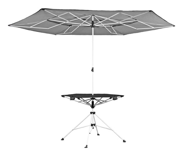 Zenithen Limited Black Roof Outdoor Folding Transportable Canopy Table With Cup Holders (OCP30S)