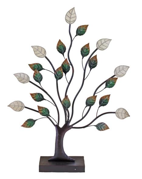 Alpine Lighted Indoor LED Metal Tree Patio Garden Decor, (ONY104HH-L)
