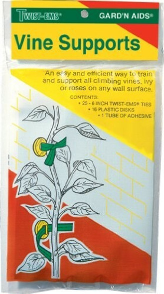 T&T Germains F29 Vine Supports, 25 Wire Twists Included, 1 Count