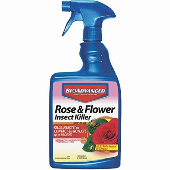 Rose and Flower Insect Killing Spray, Liquid, 24oz