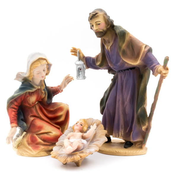 MAROLIN Nativity Figure Set, 12 pcs. (Plastic Material), 4.75 inch Figure Size