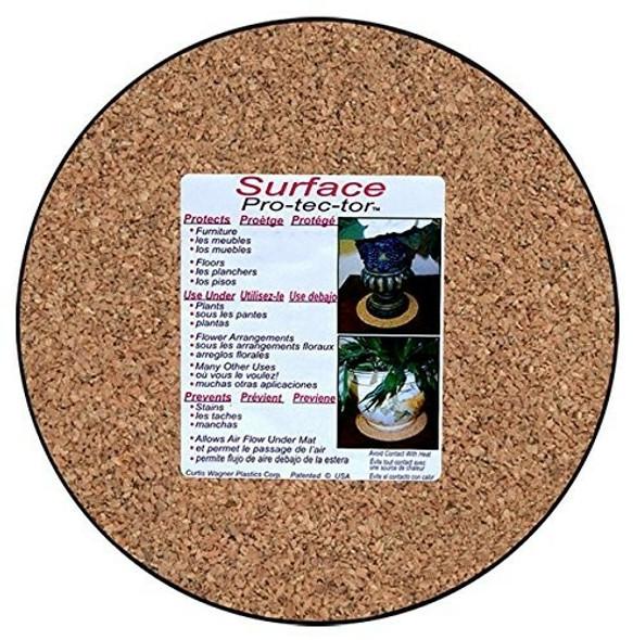 Curtis Wagner Plastics MC-800 Plant Mat, Natural Cork, 8-Inch